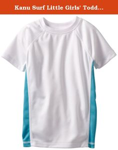 Kanu Surf Little Girls' Toddler Color Block UPF 50+ Swim Tee, White, 5T. Kanu surf presents our newest swim tees with a much looser fit than traditional rashguards for yet more comfort and versatility. Kanu, a surf and swim lifestyle brand is well known for great fit function and colors with high quality functional apparel for the whole family. All of our rashguards and swim tees are designed for surfers of all levels as well as the recreational athlete. They are ideal for running…