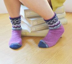 Cashmere and lamsbwool socks. Special project by UK designer Anna Wilkinson exclusively for Gomitoli's http://www.gomitolis.it/english/news_sola.php?idnews=129