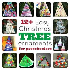 Christmas Tree Ornaments for Toddlers and Preschoolers