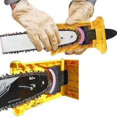 Chain Saw Sharpener Teeth Chainsaw Blade Self Sharpening Kit Fast-Sharpening Grinder Woodworking Grinding Power Tools With a Free Stone Chainsaw Sharpening Tools, Chainsaw Chain Sharpener, Blade Sharpening, Sharpening Stone, Electric Chainsaw, Used Power Tools, Cool Tools, Diy Tools, Homemade Tools
