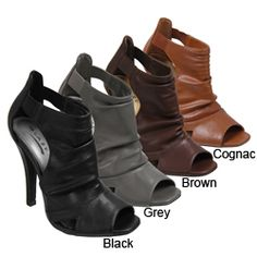 @Overstock - Complete your favorite outfits in high style with open-toe pumps from Glaze by Adi  High-heeled shoes feature bootie design with stylishly shirred top  Women's shoes features slip-on styling for comfort and ease of wearhttp://www.overstock.com/Clothing-Shoes/Glaze-by-Adi-Slouchy-Vamp-Peep-toe-Heels/4368904/product.html?CID=214117 $29.99