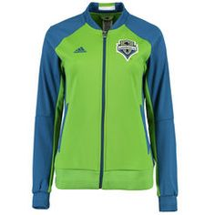 Women's Seattle Sounders FC adidas Rave Green/Blue Anthem Jacket