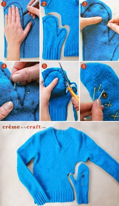 How To Make Mittens Out Of Old Sweaters DIY