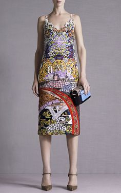 Swan Village Fully Embroidered Dress by Mary Katrantzou for Preorder on Moda Operandi
