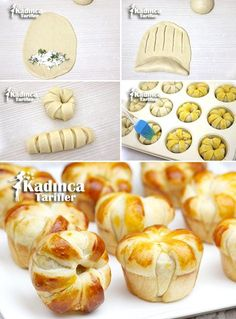 I think this is spinach and ricotta Cheese Recipes, Cooking Recipes, Bread Recipes, Bread Shaping, Bread Art, Best Party Food, Savoury Baking, Pastry And Bakery, Pizza Pastry