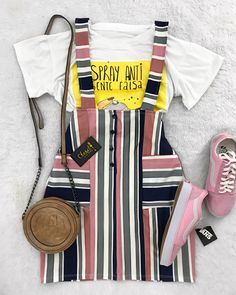 New Outfits, Cool Outfits, Casual Outfits, Summer Outfits, Fashion Outfits, Teen Fashion, Korean Fashion, Womens Fashion, Lara Jean