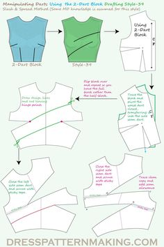 Using the Bodice Block, manipulate darts to create asymmetric style. Using the Bodice Block, manipulate darts to create asymmetric style. Corset Sewing Pattern, Pattern Drafting, Dress Sewing Patterns, Clothing Patterns, Fashion Patterns, Bra Pattern, Skirt Patterns, Coat Patterns, Blouse Patterns