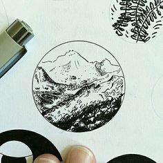 A miniature #penandink #landscape #drawing by @seilsmith (IG) that looks to leads to a larger world... so um can I go there?  No? Oh well cool piece nonetheless!  ----- Riding the #CreativeAirship? Be sure to  the original too!