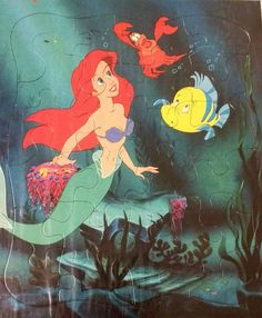 Vintage Little Mermaid Board Puzzle Disney NEW Ariel Flounder