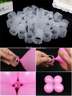 Anillos con arcos de globos de látex, paquete de 50 - #Anillos #arcos #con #de #globos #látex #paquete