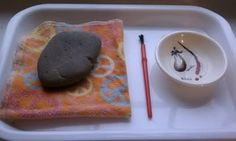 The way we are going through paper I need some projects like these.  Rock painting with water for temporary works of art
