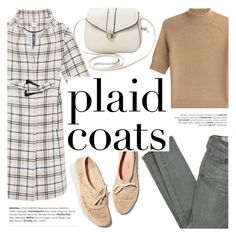"""Pattern Mix: Plaid Coats"" by helenevlacho ❤ liked on Polyvore featuring Carven, Siwy, Theory, contestentry and plaidcoats"