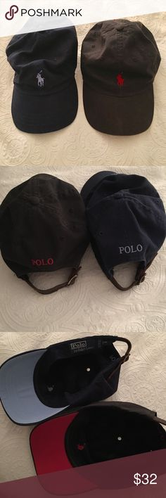 Ralph Lauren Polo Hats (Black, Navy) One is black, one is navy. Will make separate listings if requested. Perfect condition. Polo by Ralph Lauren Accessories Hats
