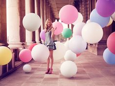 girl with balloons - Google Search