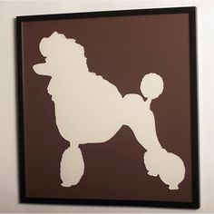 I want a whole room devoted to classy poodle decor, like this.
