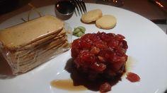 Tartar de atún rojo de Almadraba en Restaurante Pradillo, Zahara de los Atunes.