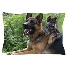 CafePress  German Shepherd And Puppy  Standard Size Pillow Case 20x30 Pillow Cover Unique Pillow Slip >>> Find out more about the great product at the image link.