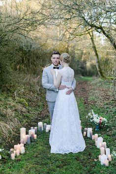 Circle of candles wedding ceremony | Nicole Schiessl