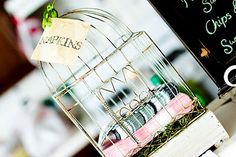 Cute napkin display!