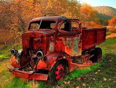 Abandoned truck. Beautiful colors.