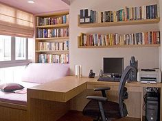 Home Office Design. Cool Home Office Ideas. 17661138 Home Office Concept. 5 Home Office Decorating Ideas Office Interior Design, Office Interiors, Office Designs, Interior Work, Simple Interior, Contemporary Interior, Interior Ideas, Small Apartments, Small Spaces
