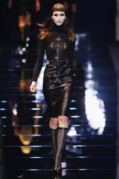 Versace a/w12. Love the fishnet style hosiery!