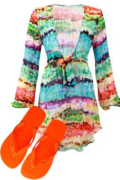 04302f53a3 great cover-up for laying by the pool or at the beach Orange Shoes