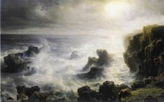 'Storm On The Coast Of Belle-ile' by Leon Germain Pelouse (1838-1891, France)