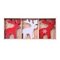 Χριστουγεννιάτικα Στολίδια Ξύλινα 7 εκ - 6 τμχ. < Στολισμός Δέντρου
