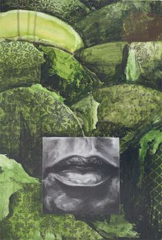 "Totem (Green), mixed media, 19"" x 13""  JBarberStudio - Weekly Art - Week6"