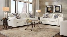 Cindy Crawford Home Pacific Harbor Beige 5 Pc Living Room  Dream Fascinating Living Rooms Sets Design Ideas