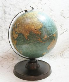 "1930-1935 Cram Terrestrial 7"" Globe ~ SOLD"