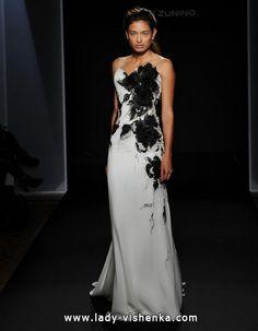 8. Schwarz Weiß Brautkleid  Alle Brautkleid Schwarz Weiß http://de.lady-vishenka.com/black-white-wedding-dress-2016/