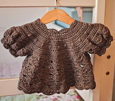 Crochet PATTERN  Puff Sleeve Shrug  Cardigan sizes baby up