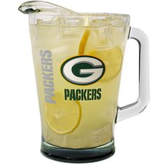 Green Bay Packers Elite Glass Pitcher at the Packers Pro Shop http://www.packersproshop.com/sku/2004358248/