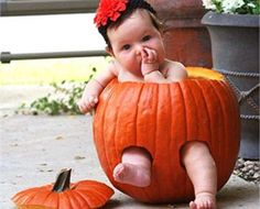 How adorable! I don't know if I'm talented enough to hollow out a #pumpkin like this, but I do know that I want my fall #photo opp to be pumpkin-themed!