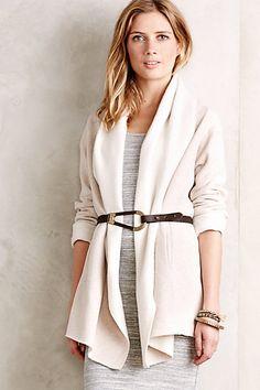 fleece wrap jacket / anthropologie