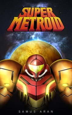 COVER ART SUPER METROID painting
