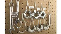 anneaux de rideaux écrous rondelles atelier