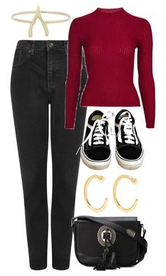 """""""Untitled #6250"""" by rachellouisewilliamson ❤ liked on Polyvore featuring Topshop, Vans, Yves Saint Laurent, Jennifer Meyer Jewelry and Melissa Joy Manning"""