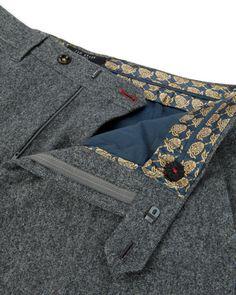 Wool flannel trouser - Grey | Trousers | Ted Baker UK