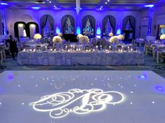 Claire + James | Monogram Dance Floor | @fsdallas