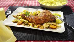 So kommt der Frühling ins Haus! Saftige Hähnchenschenkel zusammen mit knackigem Gemüse, zubereitet im MAGGI Bratbeutel.