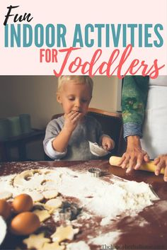 Fun indoor activities to do with your toddler! Great for cold weather, or when your kiddo is sick. Help mama and toddler stay sane when stuck indoors! These activities also promote healthy learning development. via @The Happy Herbal Home