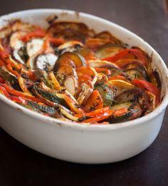 Easy Confit Byaldi, or, Ratatouille, Recipe Vegan Gluten Free, Gluten Free Recipes, Vegan Recipes, Vegan Meals, Vegan Food, Diet Recipes, Gourmet, Calamari, Lunches