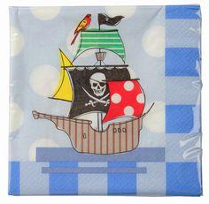Pirat Servietten bei www.party-princess.de