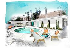 CK Show House rendering by Victoria Molinelli