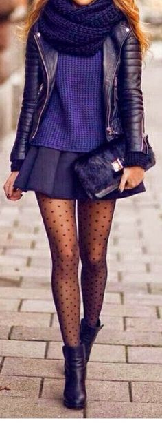 Purple obsession heart tights