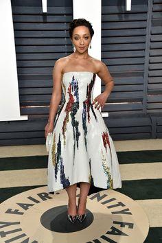 Ruth Negga in Oscar de la Renta at the 2017 Vanity Fair Oscar Party