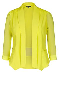 City Chic - COLOURED DRAPEY BLAZER JACKET - Women's Plus Size Fashion